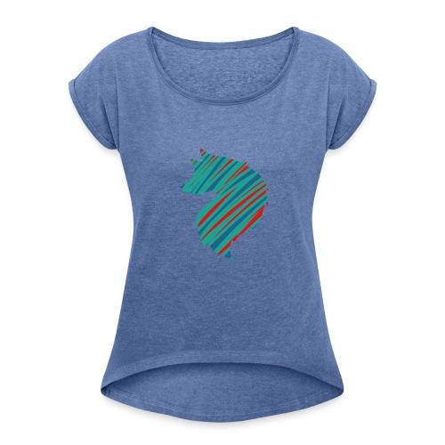 Nesreen24 - Dame T-shirt med rulleærmer