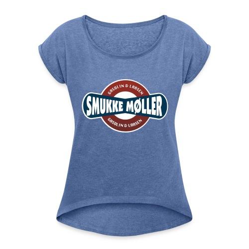 smlogo - Dame T-shirt med rulleærmer