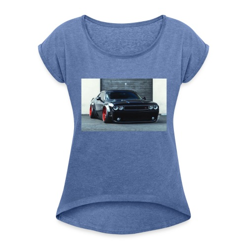 car❤️ - Frauen T-Shirt mit gerollten Ärmeln