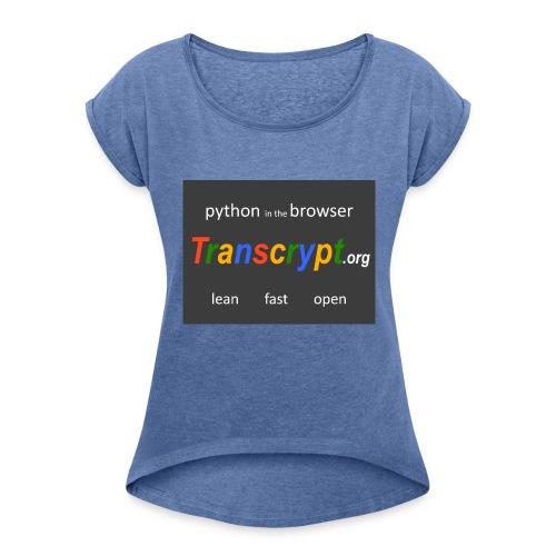 Transcrypt Logo - Vrouwen T-shirt met opgerolde mouwen