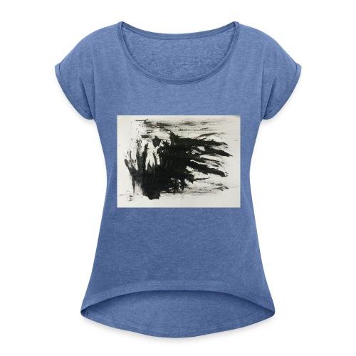 Dunkles Erwachen - Frauen T-Shirt mit gerollten Ärmeln