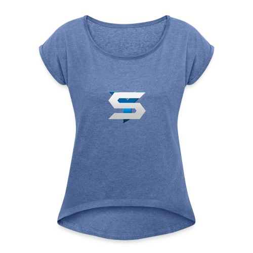 SyNc Logo - Women's T-Shirt with rolled up sleeves