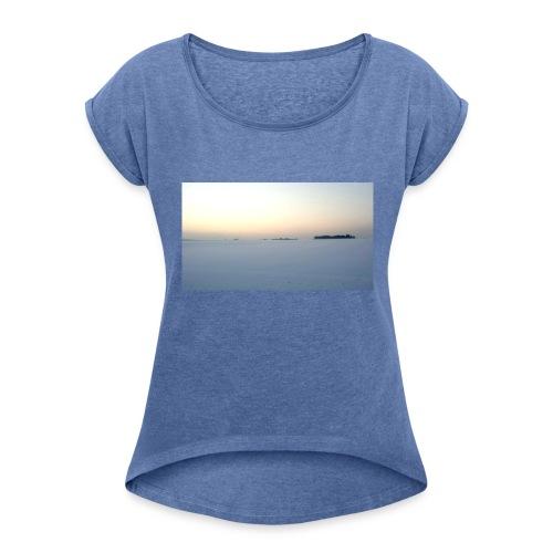 421227788_72729 - Frauen T-Shirt mit gerollten Ärmeln