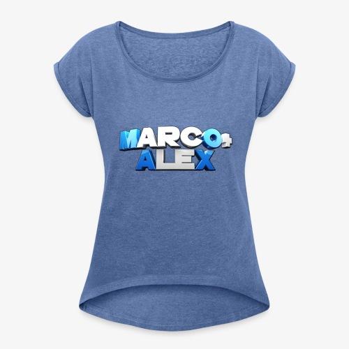 Logo Marco+Alex - Maglietta da donna con risvolti