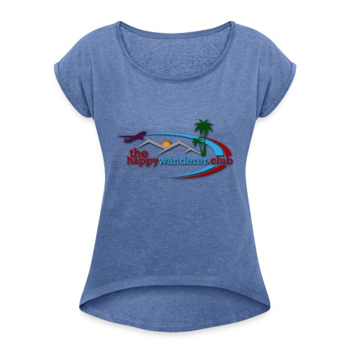 The Happy Wanderer Club - Women's T-shirt with rolled up sleeves