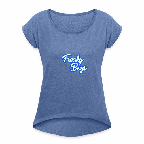 FreakyBoys - Frauen T-Shirt mit gerollten Ärmeln