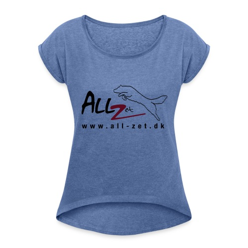 All Zet Logo - Dame T-shirt med rulleærmer