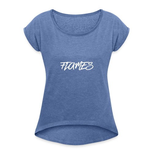 Swag Flames Logo - Women's T-shirt with rolled up sleeves