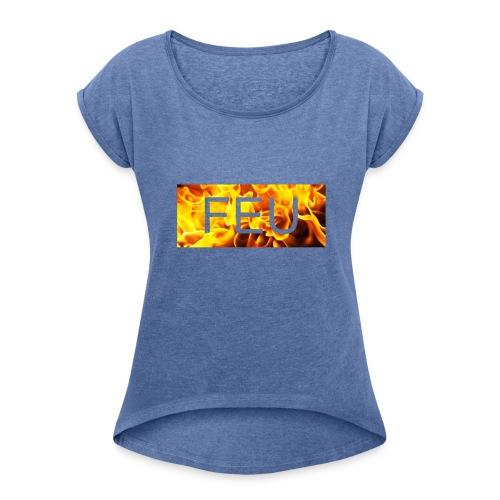 IMG_1577 - T-shirt à manches retroussées Femme