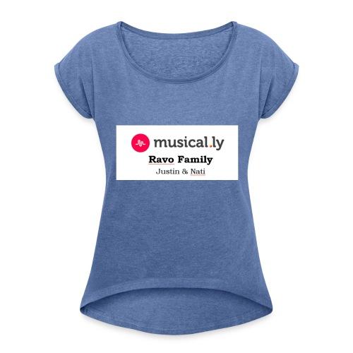Ravo Family - Frauen T-Shirt mit gerollten Ärmeln