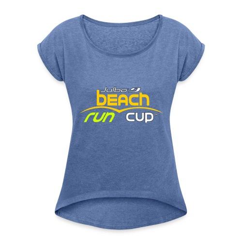 SPREADSHIRT_Atelier_Beach_run_v3_-1- - T-shirt à manches retroussées Femme
