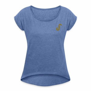 Exclusive FPLJournal Limited Edition in Gold - Women's T-shirt with rolled up sleeves