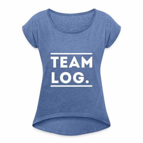 Team Log. - T-shirt à manches retroussées Femme