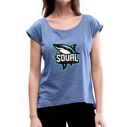 Logo SQUAL - T-shirt à manches retroussées Femme