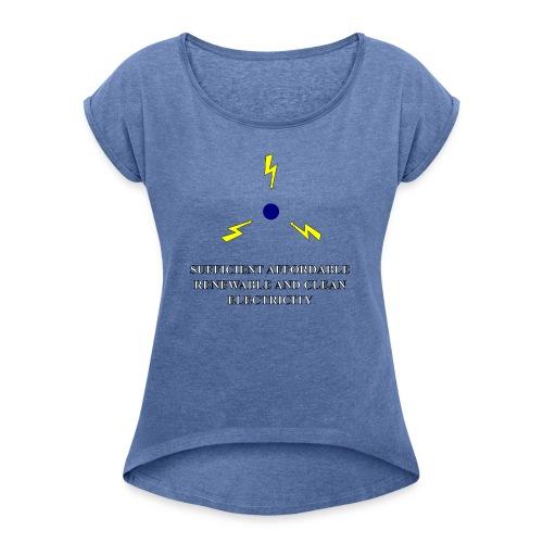 SARCE - T-shirt à manches retroussées Femme