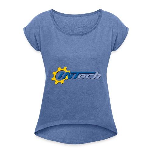 intech_logo - T-shirt à manches retroussées Femme