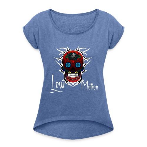 RED SKULL - Camiseta con manga enrollada mujer