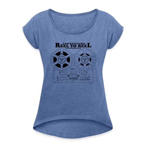 Magnétophone à bande - T-shirt à manches retroussées Femme
