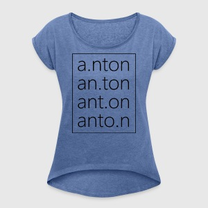 Anton Fashion - Women's T-shirt with rolled up sleeves