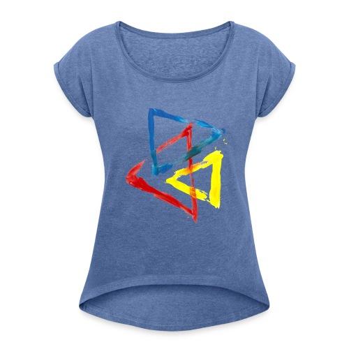 Geometric - Maglietta da donna con risvolti
