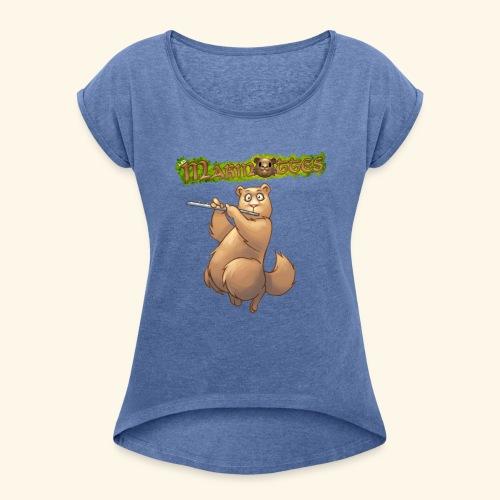 Tshirt Flute devant 2 - T-shirt à manches retroussées Femme