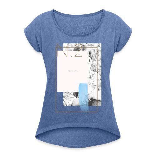 inspireme - Maglietta da donna con risvolti