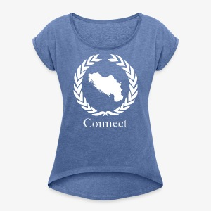 CONNECT COLLECTION LMTD. EDITION WHITE - Women's T-shirt with rolled up sleeves