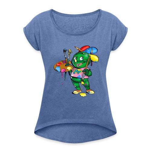 Pepilo - die beliebte Comicfigur - Frauen T-Shirt mit gerollten Ärmeln