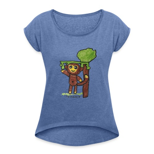 monkeywhite - Women's T-Shirt with rolled up sleeves