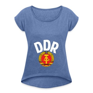 DDR - German Democratic Republic - Est Germany - Women's T-shirt with rolled up sleeves