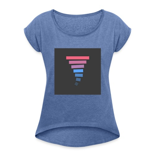 Material Lollipop Design (MKBHD) - Women's T-shirt with rolled up sleeves