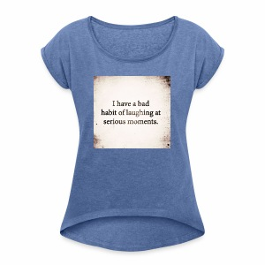 emotions - Women's T-shirt with rolled up sleeves