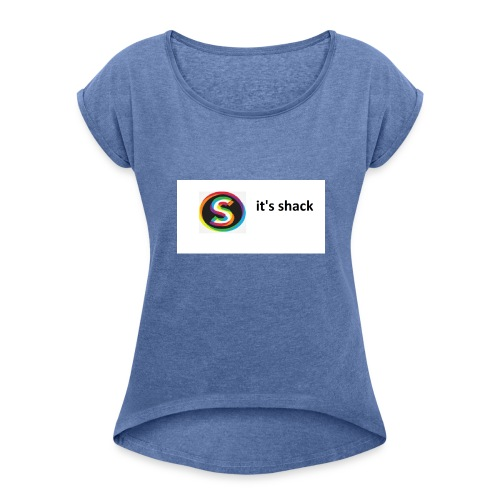 shack - Women's T-Shirt with rolled up sleeves