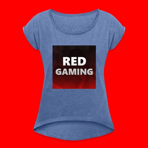 RED DESIGN - Women's T-shirt with rolled up sleeves