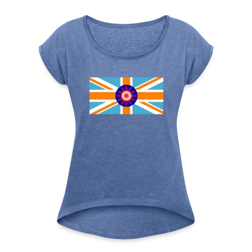 FLAG TEE - Dame T-shirt med rulleærmer