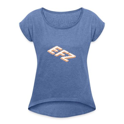 S.1 EFZ MAINLOGOSHIRT - Frauen T-Shirt mit gerollten Ärmeln