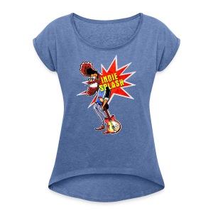 Indie Splash - Frauen T-Shirt mit gerollten Ärmeln