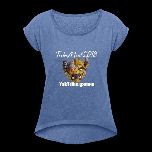 YakTribe Tribemeet 2018 Dark - Women's T-Shirt with rolled up sleeves