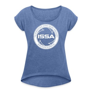 ISSA Logo - Women's T-shirt with rolled up sleeves