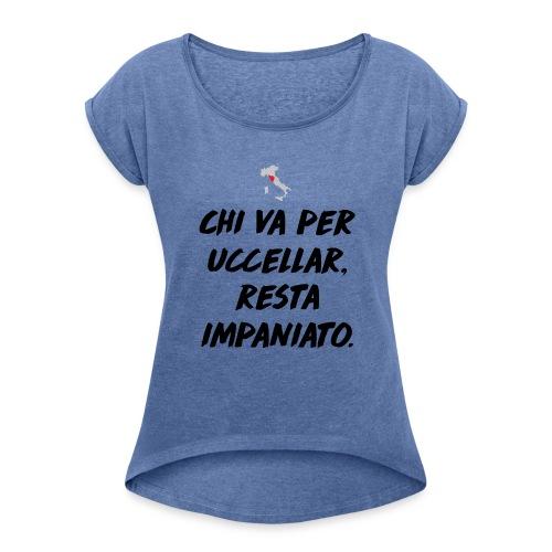 Toscana - Maglietta da donna con risvolti