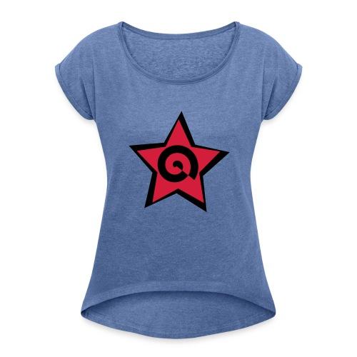 stella con spirale - Maglietta da donna con risvolti