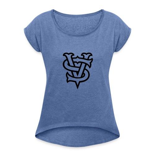 VerticalSide Records - Frauen T-Shirt mit gerollten Ärmeln