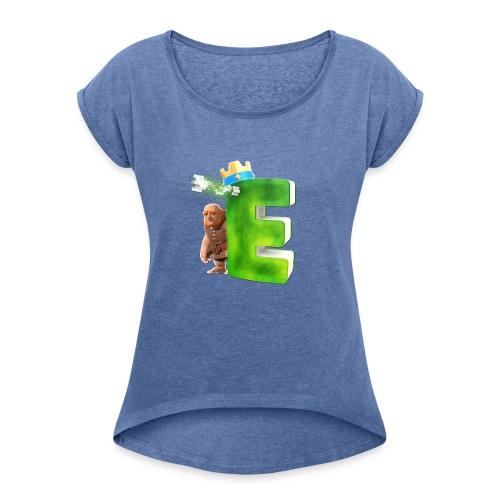 noch mehr ! - Frauen T-Shirt mit gerollten Ärmeln