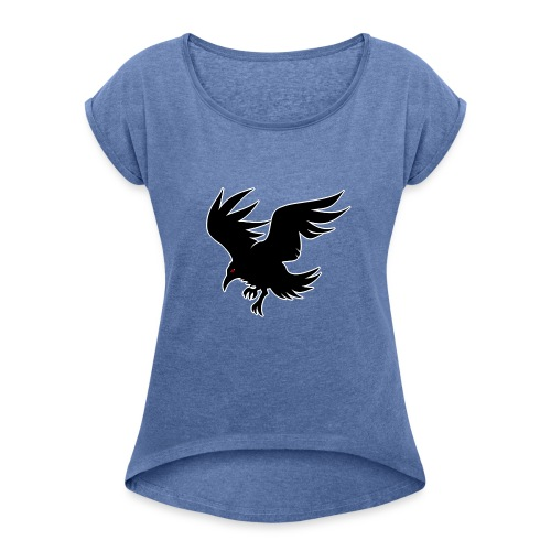Karasu - Women's T-shirt with rolled up sleeves