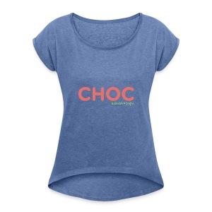 CHOC - Maglietta da donna con risvolti