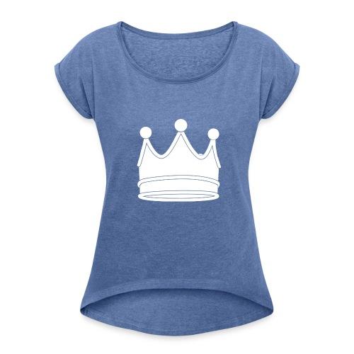 crown - T-shirt à manches retroussées Femme