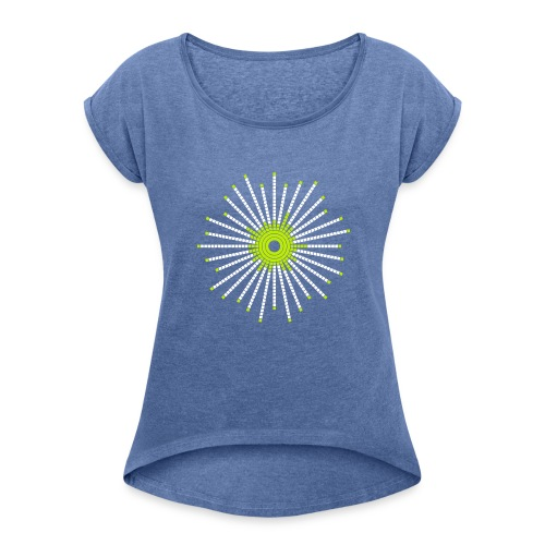 fancy_circle - Women's T-shirt with rolled up sleeves