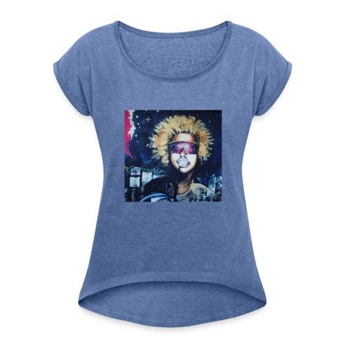 Golden Chicka IBUG 2015 - Frauen T-Shirt mit gerollten Ärmeln