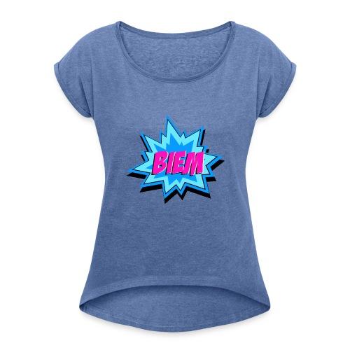 BIEM - Vrouwen T-shirt met opgerolde mouwen