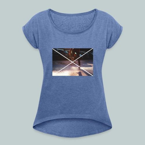 Skate-Hoodie&T-Shirt - Frauen T-Shirt mit gerollten Ärmeln